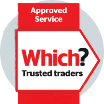 Which? Trusted Traders Approved Service logo