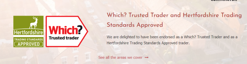 Use of the Which? Trusted Traders logo on a company's website
