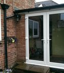 Square thumb french doors