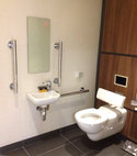 Square thumb bbs disabled toilet