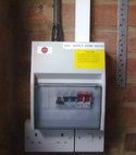Square thumb garage consumer unit