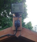 Square thumb shed security light