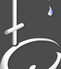 Square thumb logo on grey