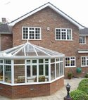Square thumb mini aluminium conservatory built by hazlemere windows in beaconsfield bucks
