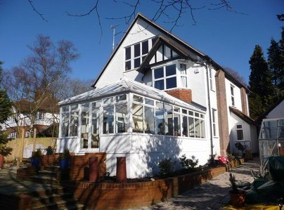 Primary thumb mini a white aluminium conservatory designed and installed by hazlemere conservatories in bucks