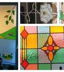 Square thumb stained glass windows