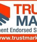 Square thumb trustmark