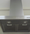 Square thumb chrome cooker hood extractor fan