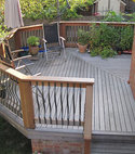 Square thumb garden decking