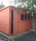 Square thumb shed