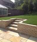 Square thumb bradstone countrystone  buff  walling