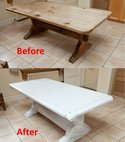 Square thumb export wrapping kitchen table