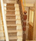 Square thumb queens park stair renovation before