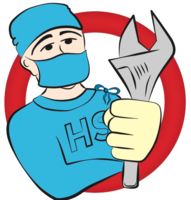 Profile thumb heat surgeon logo top half