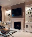 Square thumb alcove cabinets