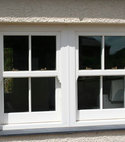 Square thumb sash windows four