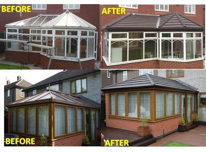 Primary thumb con roof before and after