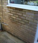 Square thumb brick up after removing balanced flue