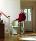 Square thumb siena curved stairlift