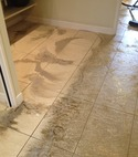 Square thumb tile floor cleaning