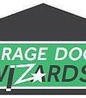 Square thumb garage door wizards logo