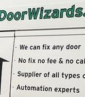 Square thumb van logo garage door wizards