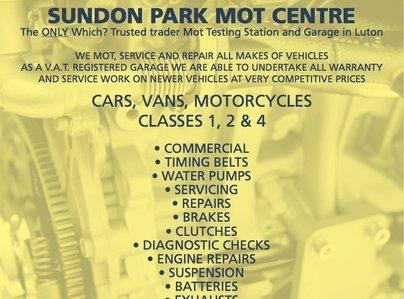 Primary thumb sundon park mot centre leaflet 1 a5 v2 2