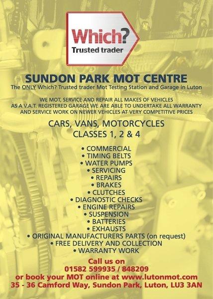 Gallery large sundon park mot centre leaflet 1 a5 v2 2