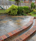 Square thumb stepped patio