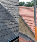 Square thumb tiled roofing