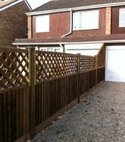 Square thumb timber panel fencing 2