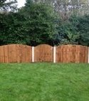Square thumb timber panel fencing 6