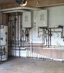 Square thumb boiler   megaflow installation