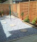 Square thumb slate  stone  trellis garden