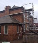 Square thumb school scaffolding