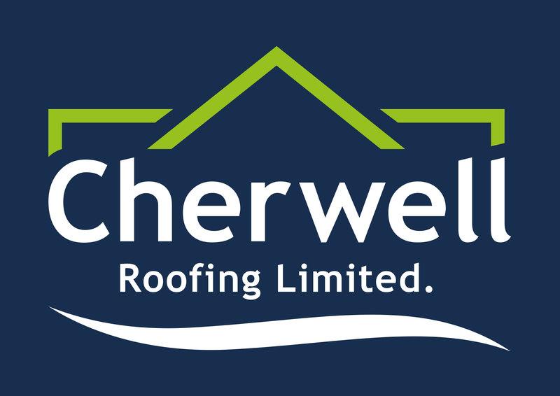 Gallery large cherwell roofing logo dark blue background