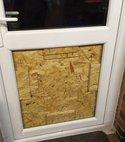 Square thumb inside door
