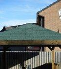 Square thumb shingle roof