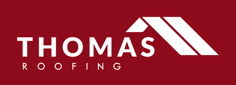 Gallery large thomas roofing logo maroon