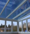 Square thumb true vue 30 on the windows and true vie 15 on blue anti sune glass roof