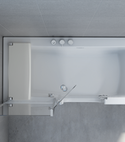 Square thumb duo 3 walk in bath vertical view