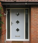 Square thumb duck egg blue composite door  2