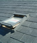 Square thumb bingley roofing slate roof and velux