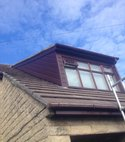 Square thumb bingley roofing cladded dormer cheeks