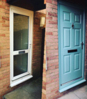 Square thumb mk locksmith new door before and after
