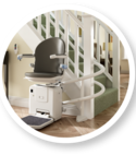 Square thumb companionstairlift 2000curved