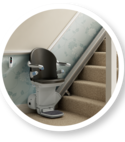 Square thumb companionstairlift 950straight
