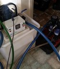 Square thumb power flush setup