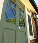 Square thumb accoya entrance door