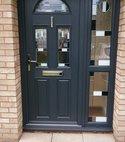 Square thumb grey door